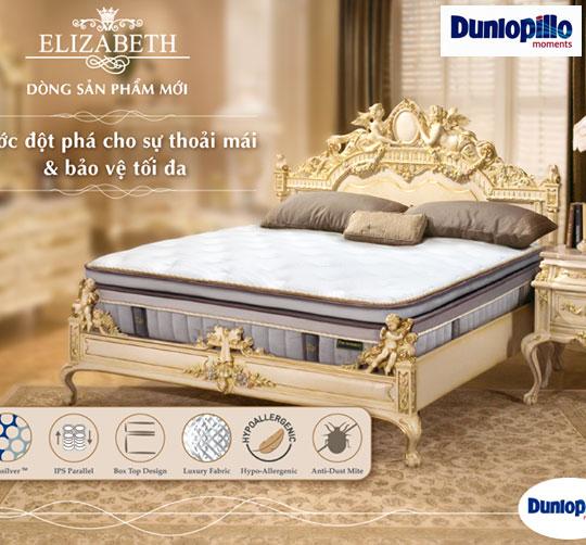đệm lò xo Elizabeth cao cấp chính hãng Dunlopillo