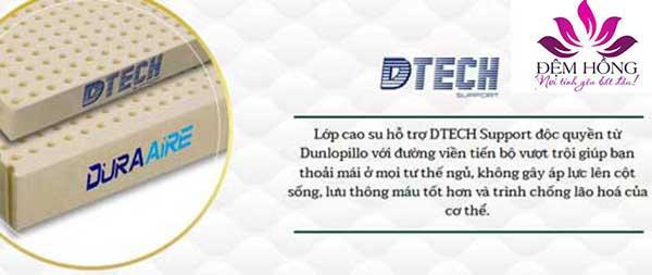 Lớp cao su hỗ trợ DTECH Support độc quyền từ Dunlopillo
