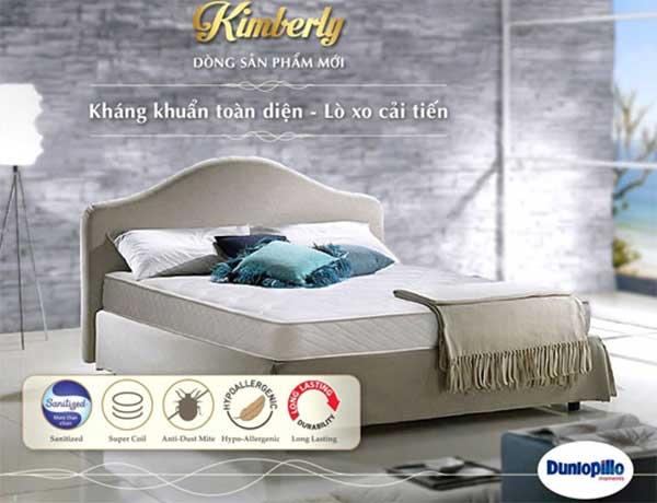Mẫu đệm lò xo Kimberly chính hãng Dunlopillo