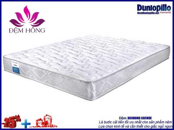 Mẫu nệm lò xo Spring Diamond Dunlopillo sale off 25% kèm quà giá trị thiết thực