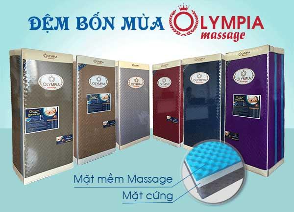 Kiểu dáng gấp 3 sang trọng tiện lợi của dòng nệm Olympia massage