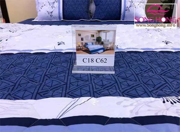 Họa tiết chăn ga gối Sông Hồng Classic mã C18-C62