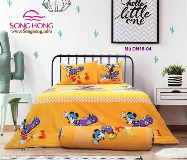 Mẫu chăn ga gối Walt Disney DN18-04 sản xuất bởi công ty CP may Sông Hồng