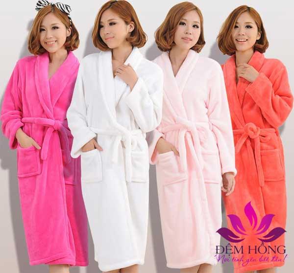 Áo choàng tắm nhiều màu sắc chuyên dùng trong spa