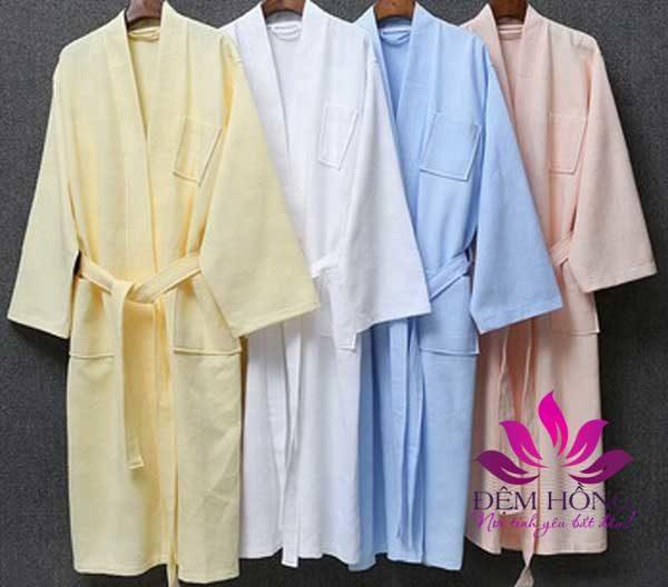 Áo choàng tắm nhiều màu sắc, chất lượng cotton 100%