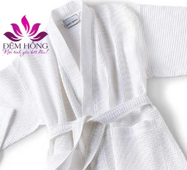 Áo choàng tắm cotton dệt tổ ong chất lượng cao