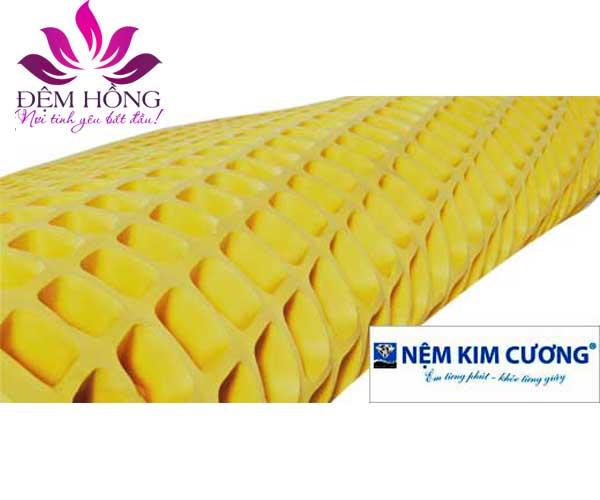 Nệm cao su Kim Cương Massage siêu bền bảo hành tới 12 năm