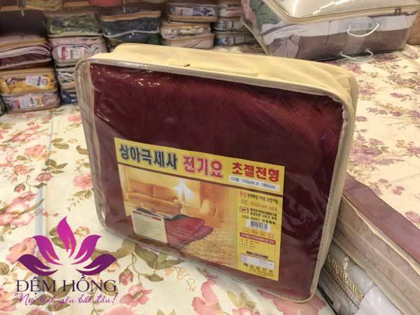 Bao bì đóng gói đệm điện nỉ nhung Korea NK