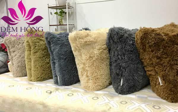 Các mẫu gối tựa Sofa lông cừu tổng hợp cao cấp
