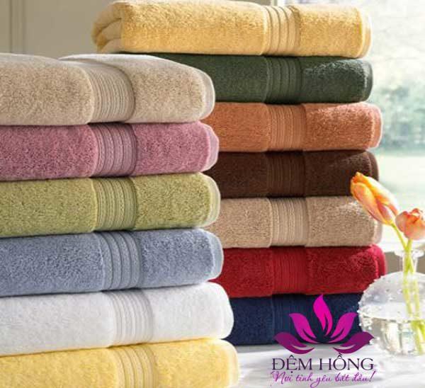 Nhận đặt khăn tắm khách sạn với đủ màu sắc