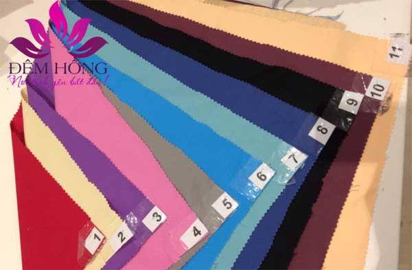 Bảng mã màu chăn ga gối đơn sắc vải Micron Hàn Quốc