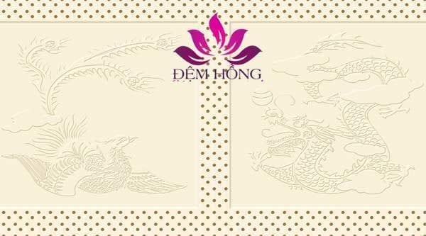 Logo Long Phụng trên đệm Kymdan Delux