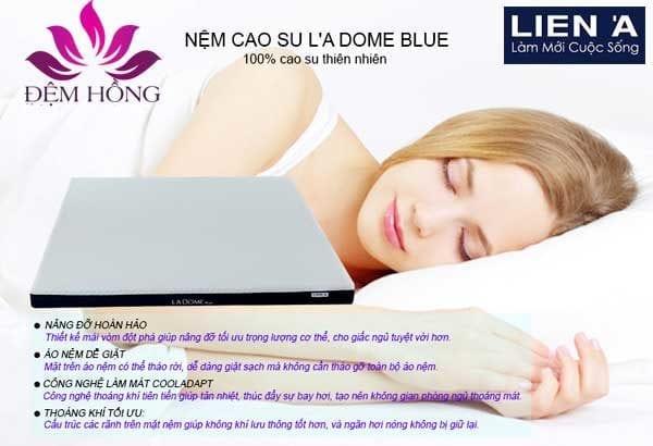 Tính năng đặc biệt của dòng nệm cao su L'a Dome Cool Blue
