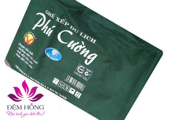 Bao bì đóng gói sản phẩm giường ghế xếp Phú Cường