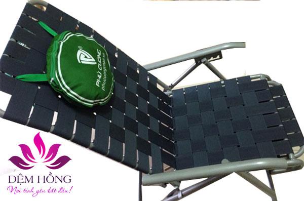 Mẫu ghế gấp Phú Cường chính hãng lưới màu xanh xám