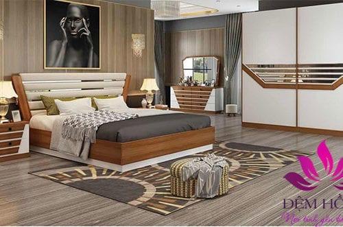 Giường tủ phòng cưới mang phong cách châu âu
