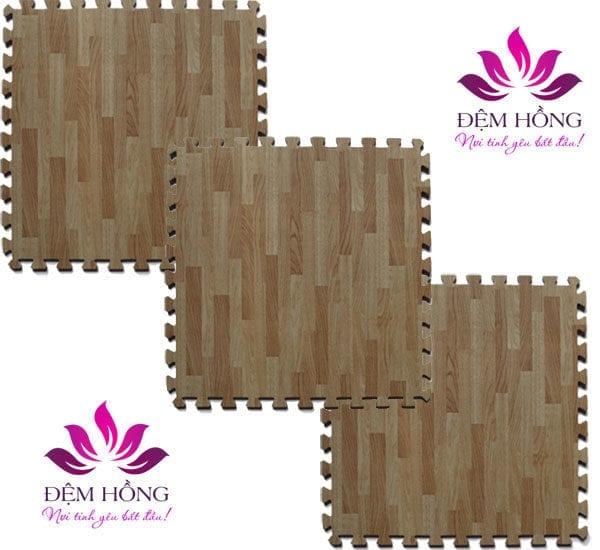 Thảm xốp ghép vân gỗ 40x40 Tường Lâm chính hãng