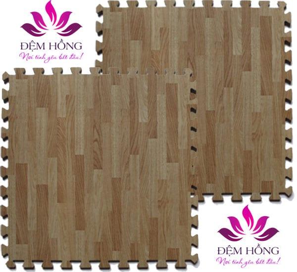 Thảm xốp vân gỗ 60x60 khổ lớn rộng độ bền cao
