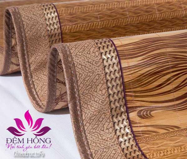 Viền chiếu gỗ Thái mềm mại chắc chắn