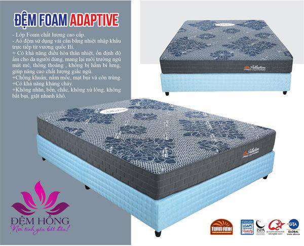Mẫu nệm Foam Adaptive cân bằng nhiệt