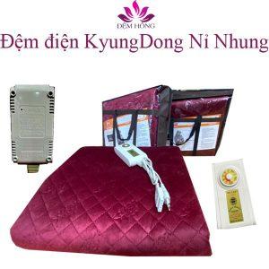 Giới thiệu mẫu đệm điện nỉ nhung Hàn Quốc Kyungdong