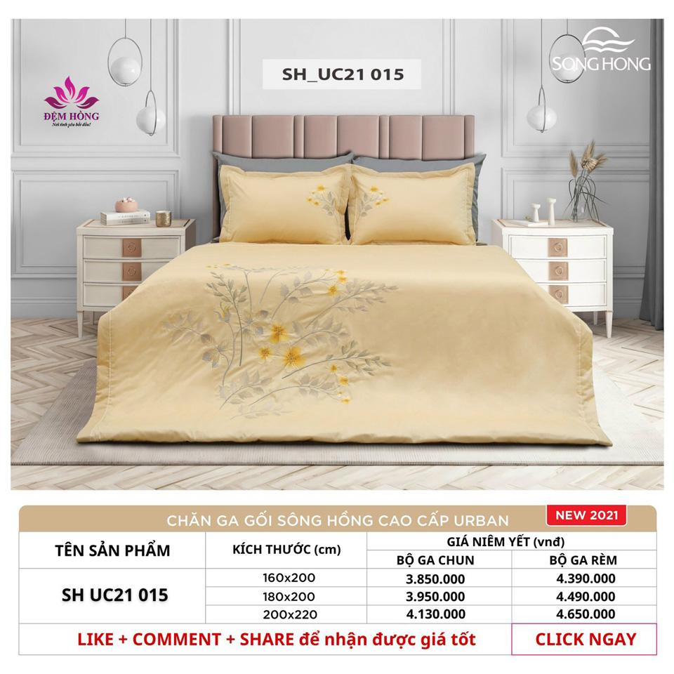 Bảng giá niêm yết chăn ga gối Sông Hồng cao cấp Dòng Urban mã UC21-015